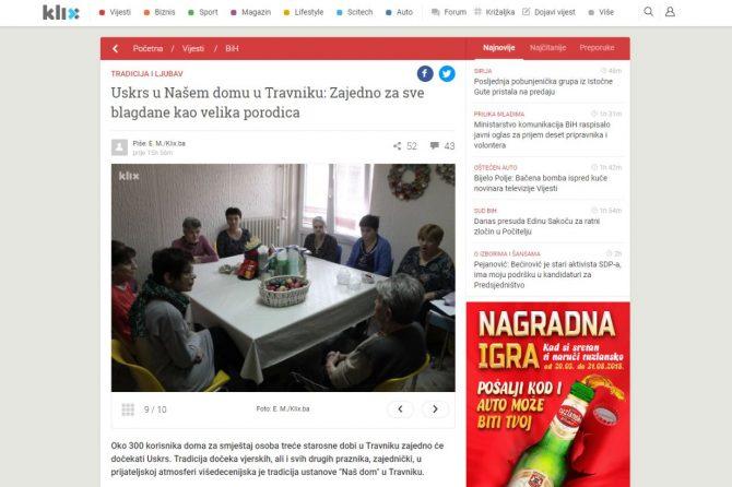 KLIX.ba: Uskrs u Našem domu u Travniku: Zajedno za sve blagdane kao velika porodica