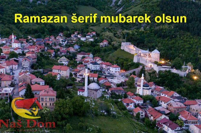 Svim muslimanima: Ramazan šerif mubarek olsun!